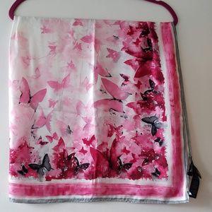 White House Black Market breast cancer scarf